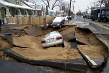 AP Sinkhole Swallows Car